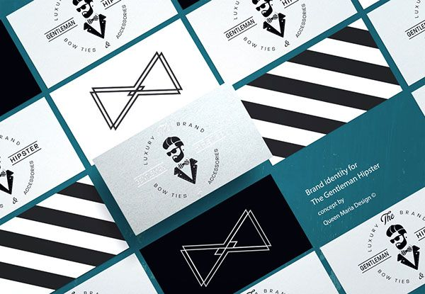 THE GENTLEMAN HIPSTER / Brand Identity on Behance by @queenmariadesign #businesscard #identity #branding #fashion