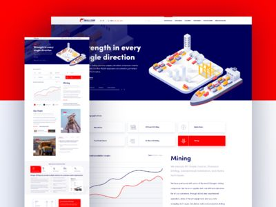 Energy / Mining Company Landing page