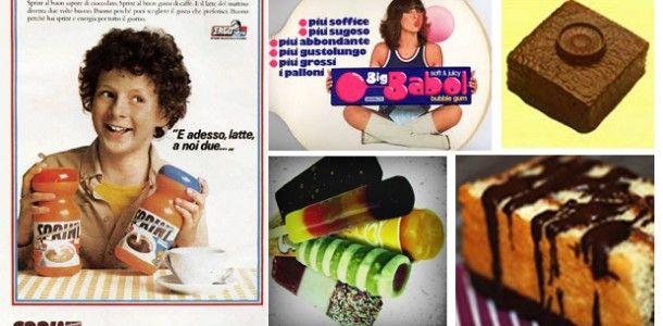 """Cosa mangiavamo nei mitici anni '80? Quali erano i piatti, le merendine, i gelati e le altre leccornie che andavano di moda? In questo post facciamo un tuffo nel passato e scopriamo il cibo """"vintage"""" di quegli anni    LEGGI QUI ---> http://blog.ilpikkio.it/il-cibo-vintage-degli-anni-80/"""