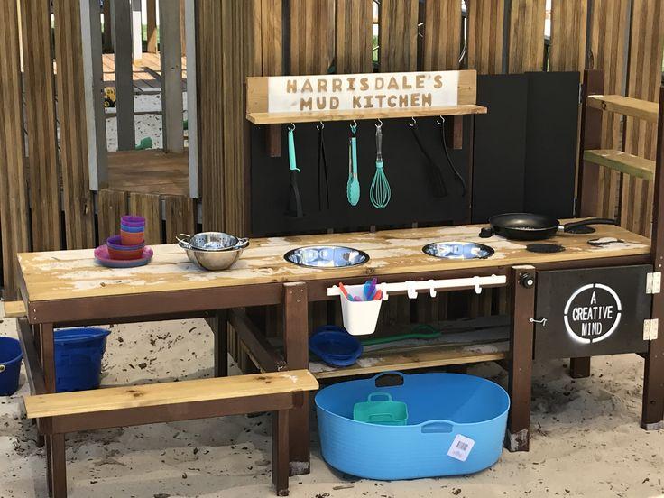 mud kitchen picnic table  www.facebook.com/acreativemindaustralia