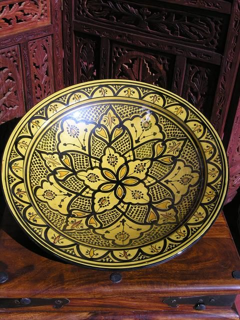 Stunning traditional Moroccan pottery can accent a colour scheme and are also hugely practical. See our full range of Moroccan traditional ceramics http://www.maroque.co.uk/catalog.aspx?p=00075