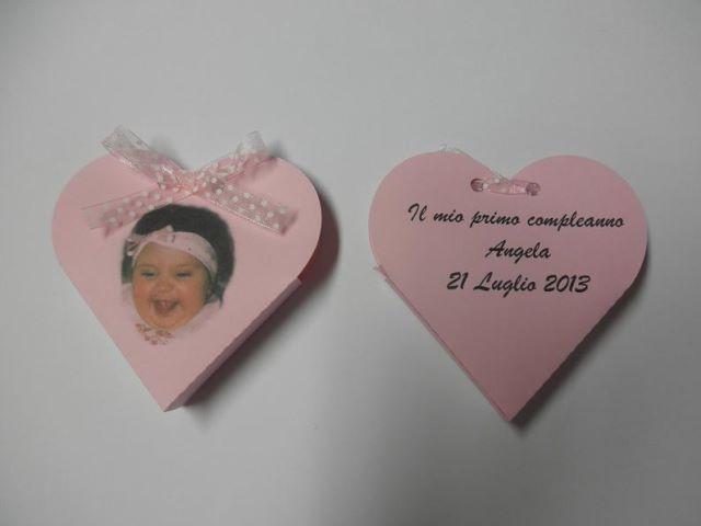 Scatoline portaconfetti a forma di cuori con scritta e foto