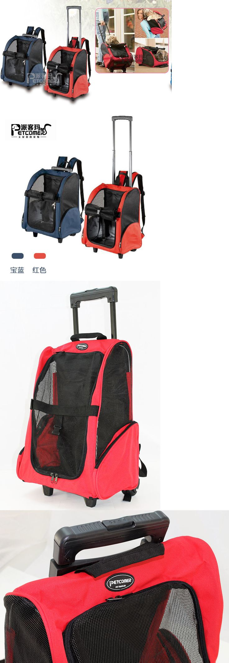 Carriers and Crates 116362: Travel Pet Carrier Dog Cat Rolling Backpack Airline Wheel Luggage Bag Red Us -> BUY IT NOW ONLY: $42.99 on eBay!