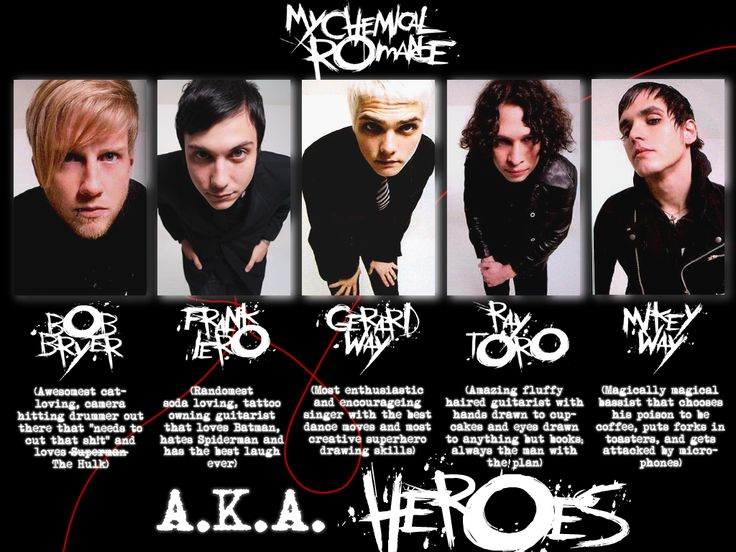 The Heroes of MCR by Jenni-stole-ur-Penny.deviantart.com on @deviantART