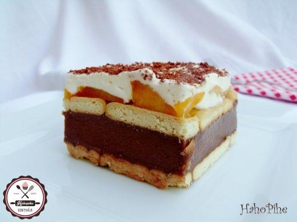 Könnyű és habos – barackos-pudingos szelet sütés nélkül
