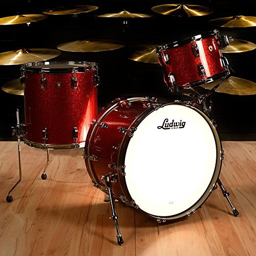 Ludwig 13 16 22 Classic Maple 3pc Kit Red Sparkle Drum Set Pearl Drums Kids Kits For Sale Cheap Sets Pad