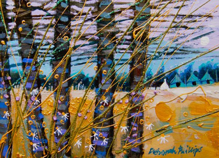 Between Trees by the contemporary artist Deborah Phillips available to buy online at The Leith Gallery