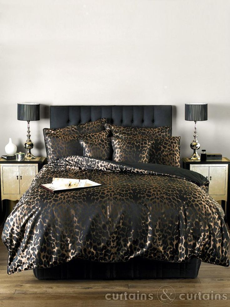 Absolute Once In This Black Gold Jacquard Duvet Cover Set Animal Print