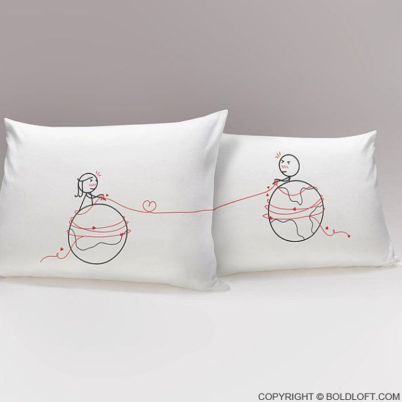 These long distance relationship gifts for him and long distance love gifs for her bring couples closer together no matter how many miles separate ... & 25+ unique Long distance relationship pillow ideas on Pinterest ... pillowsntoast.com