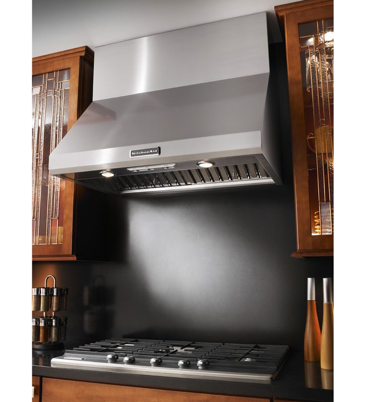KitchenAid 36 Wall Mount 600 1200 CFM Canopy Hood Commercial Style In 2019 Stainless Range