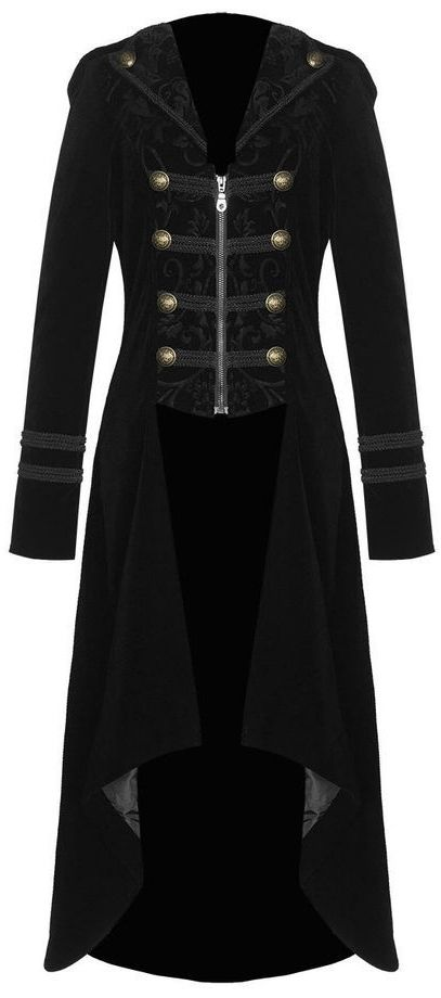military inspired black velvet coat <3                                                                                                                                                                                 More