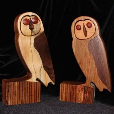 Owl – bespoke hand crafted wooden statue
