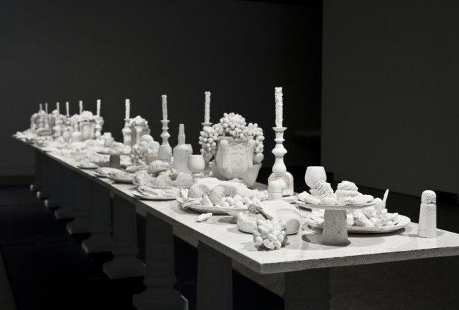 Ken and Julia Yonetani created a 30-foot artwork of Da Vinci's The Last Supper