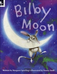 Bilby Moon - So beautiful...Each night when Little Bilby leaves her burrow, she looks up to greet the moon. And each night the moon looks down and smiles. But then one night the moon doesn't smile. A piece of the moon is missing!