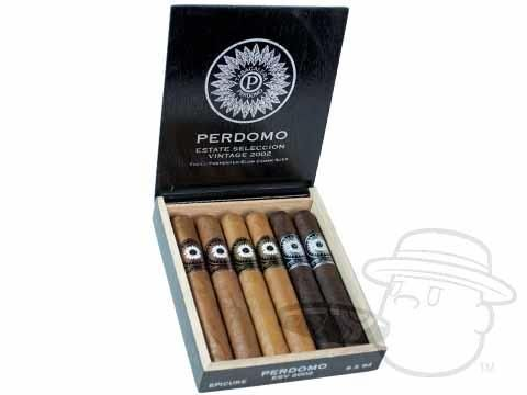 Perdomo Estate Seleccion Vintage 2002 Epicure Sampler 6 x 54—Box of 6 - Best Cigar Prices