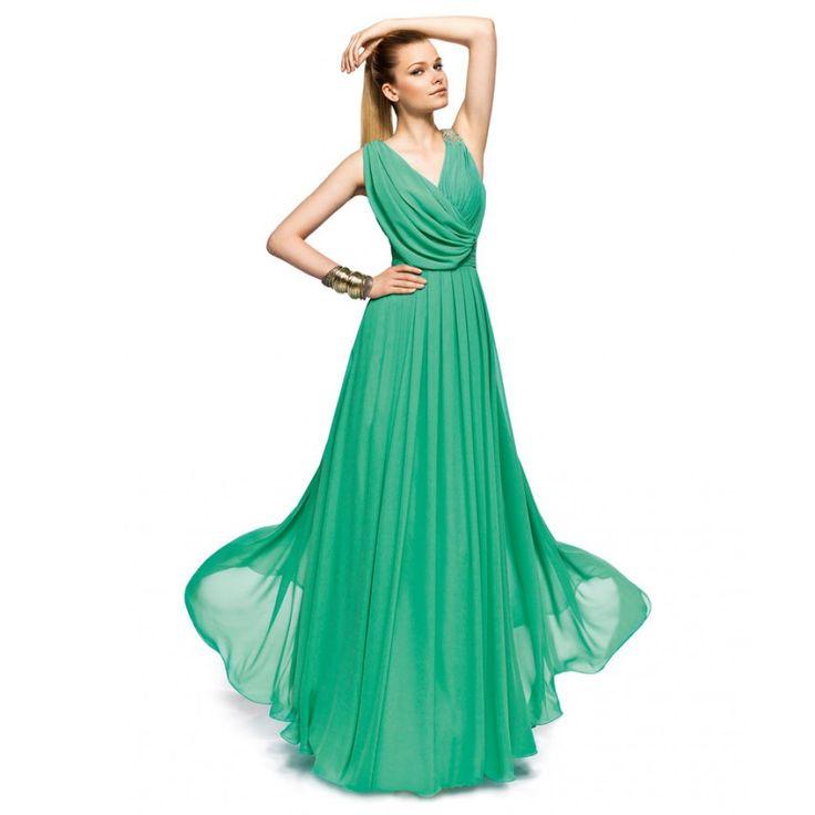 long-green-cocktail-dress