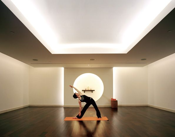 yoga room decor | Yoga Room Treatment and Relaxation Room Reception and  Retail Area .