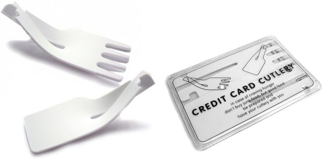 Credit Card Cutlery: Ordinary Cutlery, Without the Cut