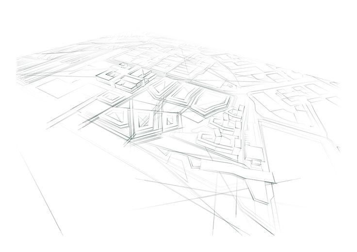 Schets ontwerp stedenbouw