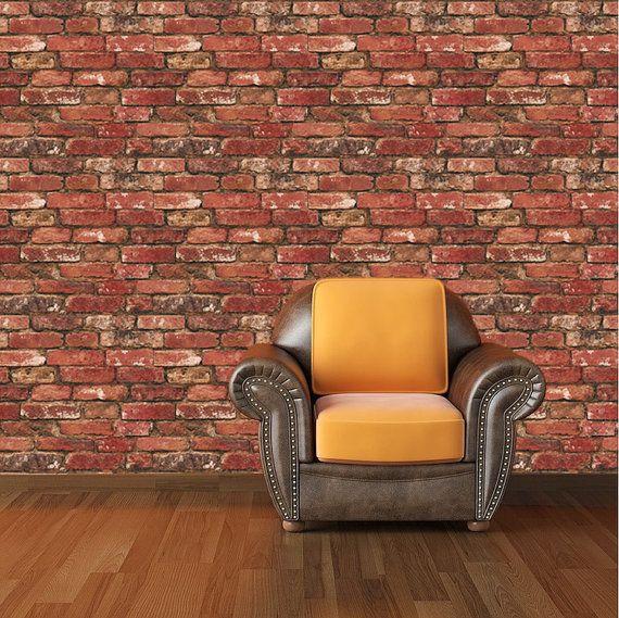 Best Wallpaper Self Adhesive Images On Pinterest Vinyl Decals - Vinyl wall decals brick