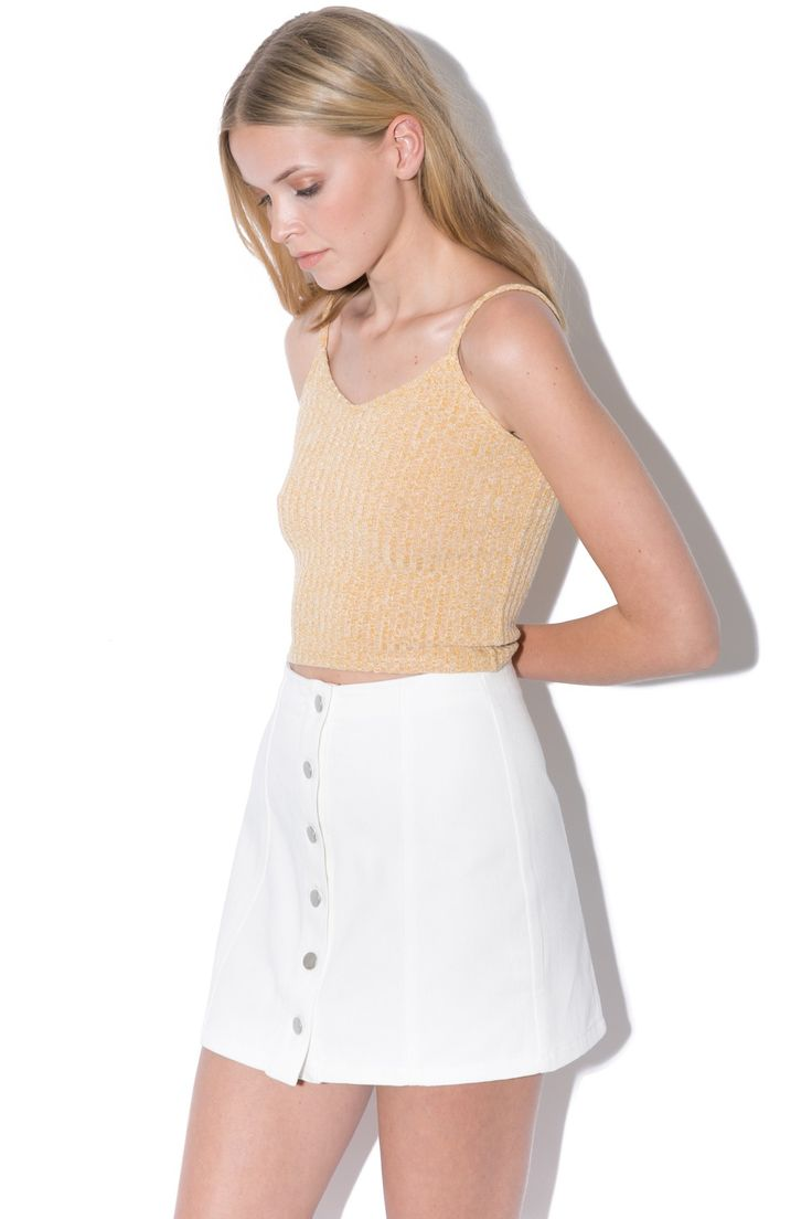 PARE BASIC Shelby Skirt White