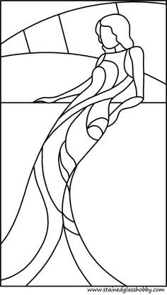 stained glass pattern mermaid - Google Search