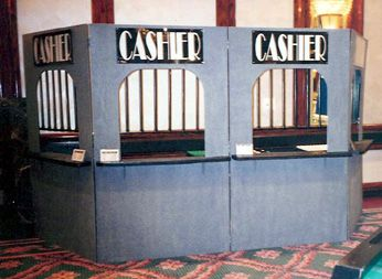 Cashier Cage - Casino Night Props - Props and Decor - Money Booth - Money Cage - Cashier Booth - Ticket Booth - Ticket Counter - Casino Props - Maryland Rentals - DC Metro Area - Bethesda - Virginia - Rockville - Montgomery County - Arlington