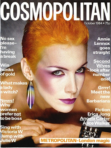 October 1984, Annie Lennox - I remember buying this issue when I lived in London. I was trying really hard to look like this ;)