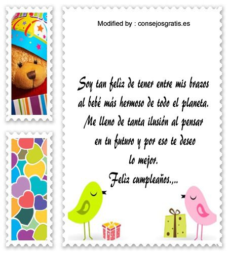 descargar mensajes bonitos de cumpleaños para mi hijo,mensajes de texto para cumpleaños para mi hijo,: http://www.consejosgratis.es/saludos-de-cumpleanos-para-tu-bebe/