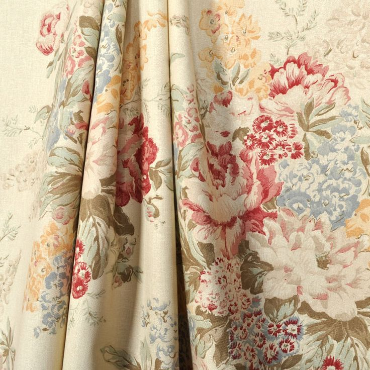 Kitchen Curtains Fabric Vintage Kitchen Fabric Chintz: Ralph Lauren Angela Floral Cream Fabric