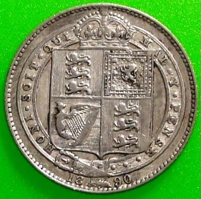 1890 1 Shilling - Victoria United Kingdom Silver Issue
