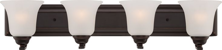 Elizabeth - 4 Light Vanity Fixture w/ Frosted Glass