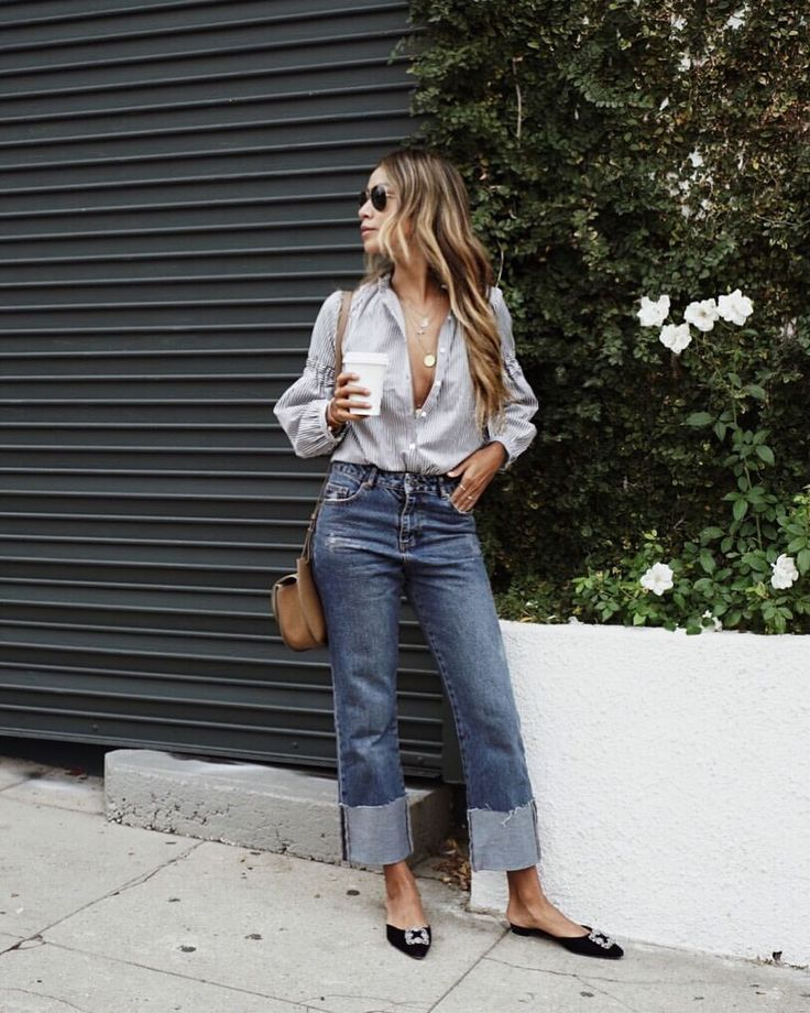 "Shop Sincerely Jules on Instagram: ""Coffee date wearing our Steffi Blouse & Demi Jeans! ☕️ 