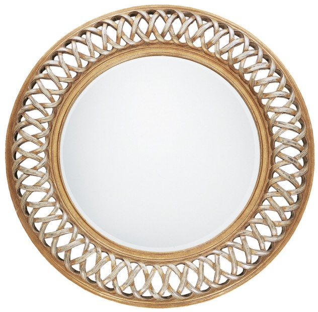 Uttermost 14028 B - ENTWINED U ROUND bathroom MIRROR WITH RIMS