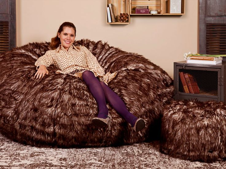 Lovesac Limited Edition Timber Fox Long Phur Supersac Package