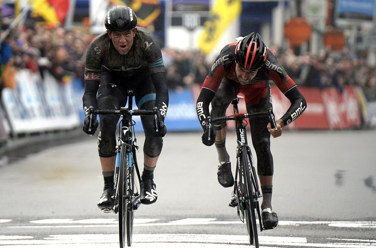 2014 Omloop Het Nieuwsblad | Ian Stannard wins a two-up sprint with Greg Van Avermaet. Photo: Graham Watson