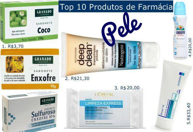 Top 10 Produtos de Farmácia – Rosto
