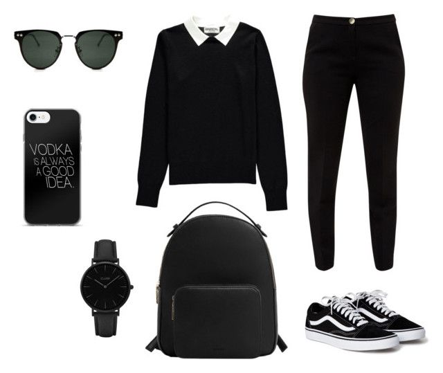 B&W by Musa on Polyvore featuring moda, Essentiel, Ted Baker, MANGO, CLUSE and Spitfire