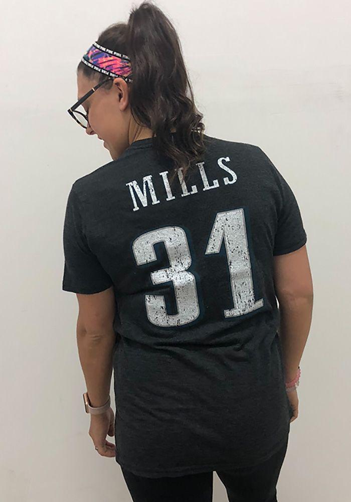 quality design 3e23b cdbc5 Jalen Mills Philadelphia Eagles Black Name & Number Short ...