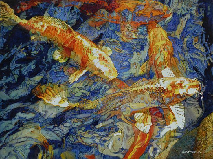 Ripples No. 1, painting by Shen Jian Wei