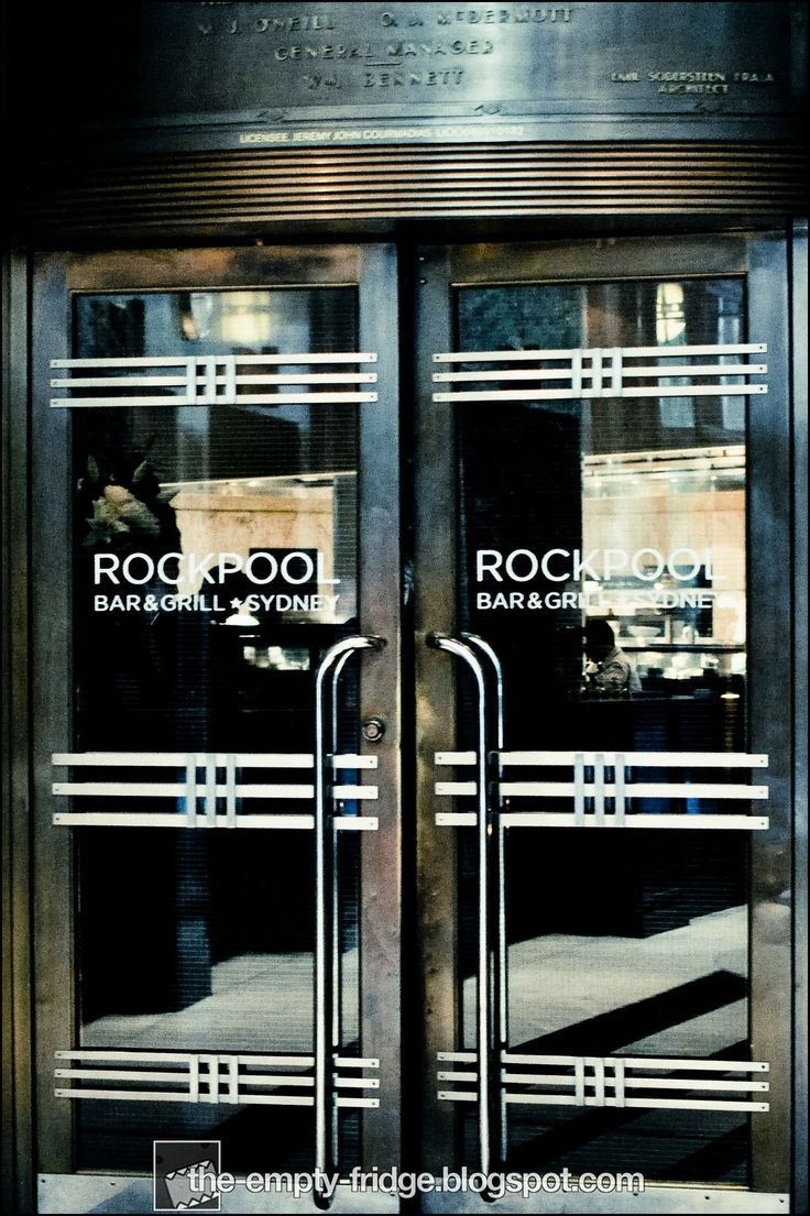 Rockpool Bar and Grill Restaurant Sydney