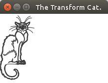 JavaFX. Untransformed cat. Ch20_8.