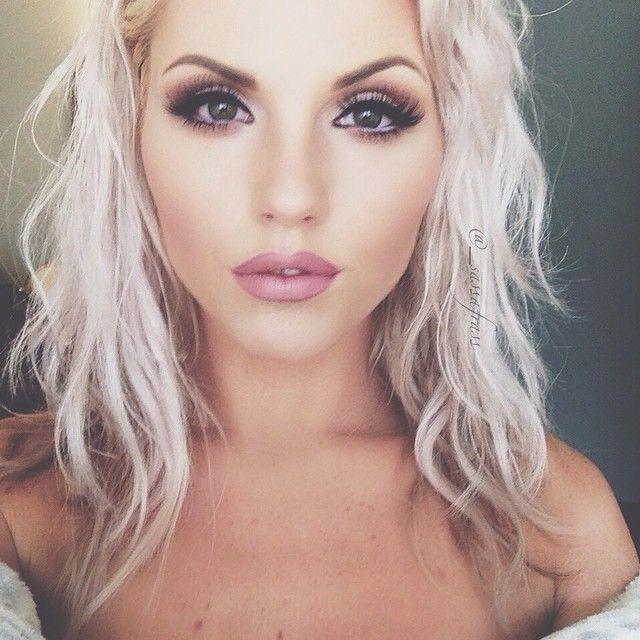 Pink glam makeup