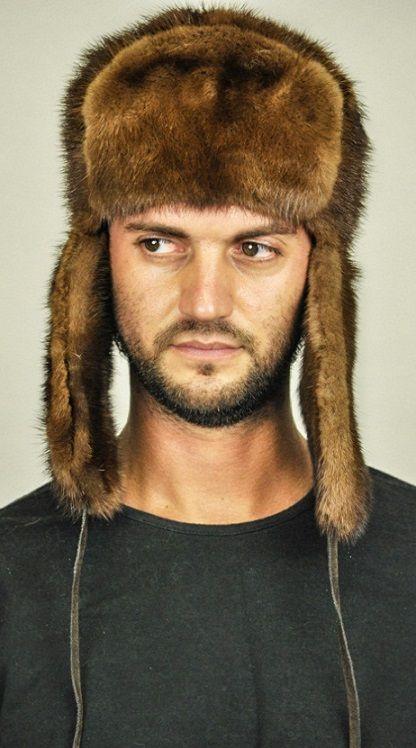 Cappello in pelliccia di visone da uomo  www.amifur.it