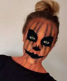 Pretty Halloween Makeup Ideas You'll Love | StyleCaster (Halloween Pumpkins)