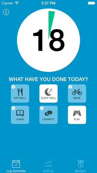 """MiYo (short for """"mind yourself"""") is an app for tracking factors important to wellbeing such as sleep quality, healthy eating, exercise, connection to friends/family and socialising/hobbies."""