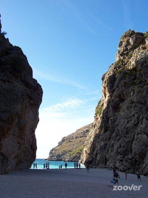 Eindpunt van het rotspad bij Sa Calobra