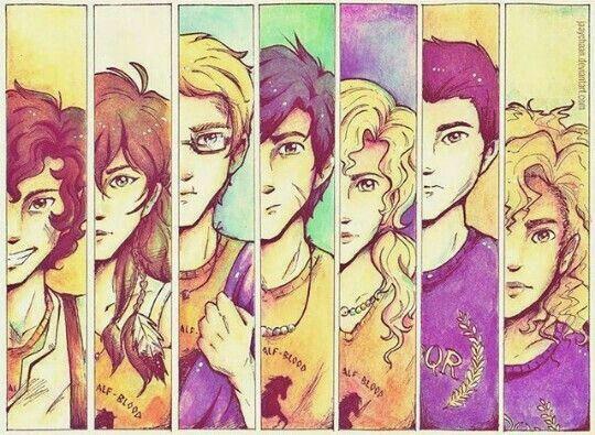 I love my seven demigod.❤❤❤ Leo Piper Jason Percy Annabeth Frank and  Hazel