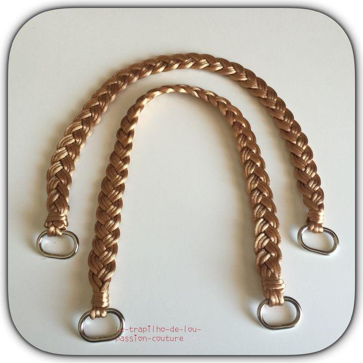 Lot de 2 anses / poignées de sac 49 cm : Fermoirs sac, porte-monnaie par le-trapilho-de-lou-passion-couture