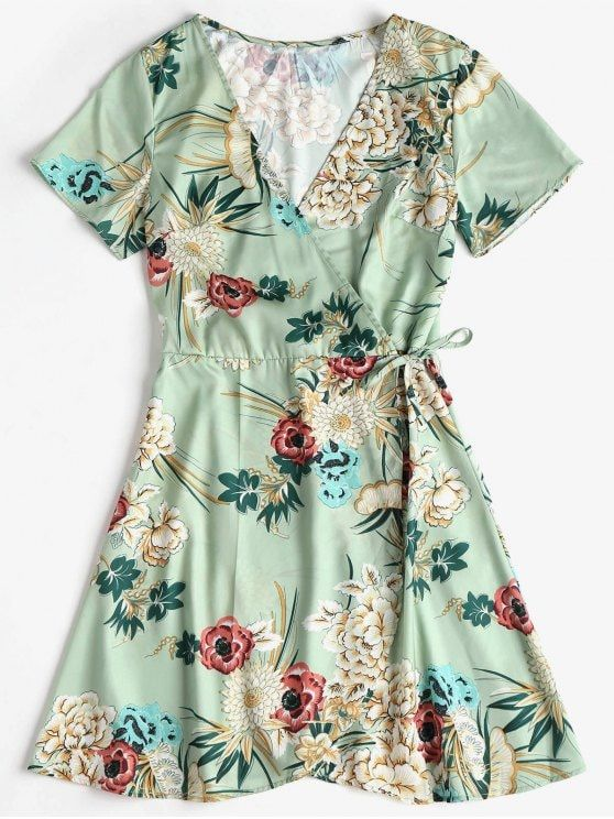 7bbbafadcb Mini vestido de seda com estampa floral - Verde de Rã Marina Ruy Barbosa